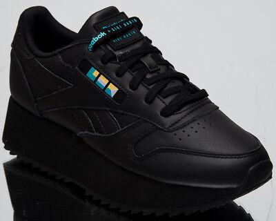Reebok x Gigi Hadid Women's Classic Leather Double Black Lifestyle Shoes DV5392 | eBay