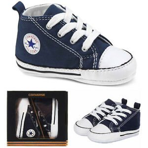 18cc19e51d90 Converse Chucks Taylor All Star First Star Infant Toddler Navy Baby ...