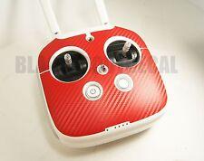 DJI Phantom 3 / 4 Transmitter Remote RED Carbon Fiber Graphic Wrap Skin