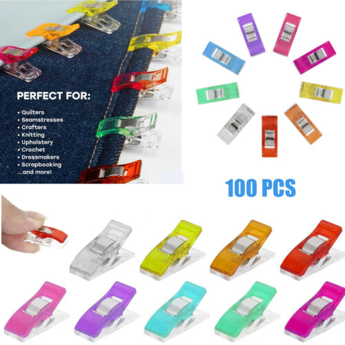 100pcs Plastic Quilter Holding Wonder Clips Sewing Accessories Quilt Binding UK