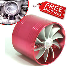 TURBO Supercharger AIR INTAKE TURBONATOR Red Gas Fuel Saver Fan for HYUNDAI