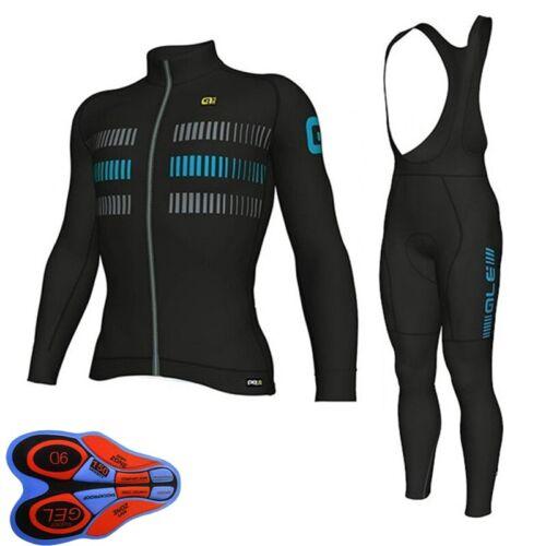 2020 men cycling long sleeve jersey bib pants set breathable bike sports outfits