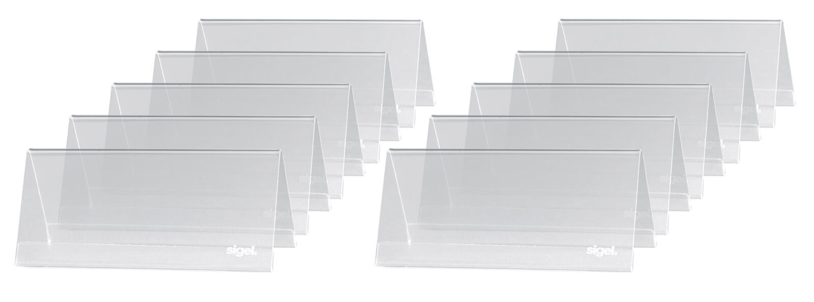 Sigel Table Top Display Frame 95x 42 mm, 10 pcs.