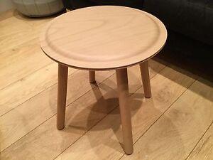 Ikea side table stool solid beech legs beech veneer top PS 2017