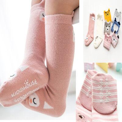 Cute Cartoon Cotton Baby Kids Girls Toddlers Knee High Socks Tights Leg Age 0-6