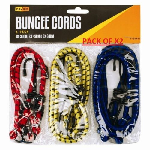 12 BUNGEE CORD ELASTIC LUGGAGE STRAPS ROPE HOOKS STRETCH TIE CAR BIKE MIXED SET