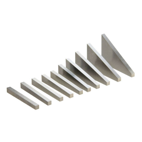 10 Stück Präzisions Winkelblock,1-30 Grad,Drehmaschinen Fräsen Blöcke aus Stahl
