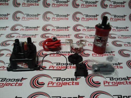 MSD CAP//ROTOR /& Coil Bracket /& RED Blaster For 92-00 CIVIC 94-01 INTEGRA