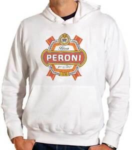 21007690a8e86 La imagen se está cargando Sudadera-con-capucha -Cerveza-Peroni-en-blanco-con-