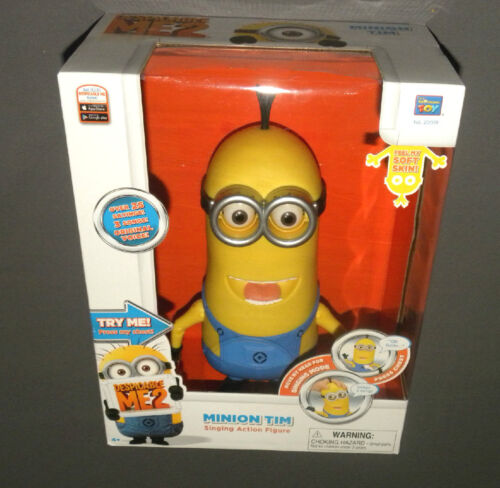 Despicable Me 2 ME2 Minion Tim Talking Laughing Singing Action Figure Doll NEW