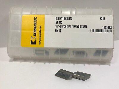 KENNAMETAL NPR52 KCGX110308R15 New Carbide Inserts Grade K313 5pcs
