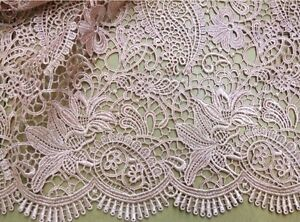 Vintage-Guipure-Embroidery-Wedding-Lace-Fabric-47-034-Wide-for-Bridal-Dress1-2Yard