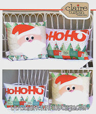 HoHoHo - Applique Sewing Craft PATTERN - Cushion Christmas Shabby Chic