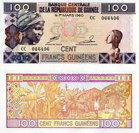 GUINEA 100 Francs Banknote World Paper Money UNC Currency Pick p35b Bill Note