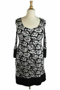 Karen-Kane-Women-Dresses-Sheath-XL-Black-Rayon