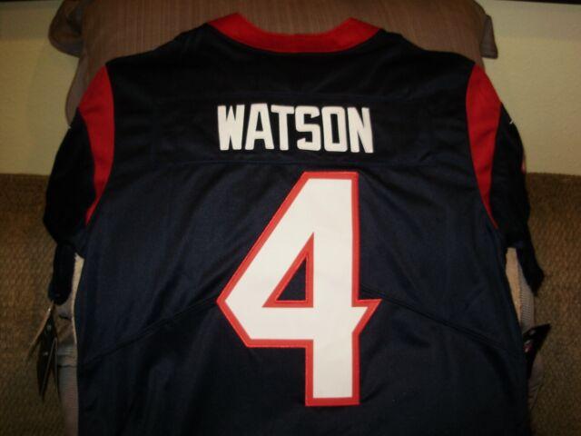 DeShaun Watson Onfield Nike NFLPA Houston Texans Navy Youth Med Jersey ANB