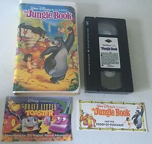 Walt-Disney-VHS-Black-Diamond-Rare-The-Classics-The-Jungle-Book-With-Inserts-NM
