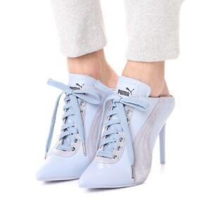 a0ec0a041d1 NIB  400 FENTY PUMA by Rihanna Lace-Up Leather Sneaker Mule ALEUTIAN ...