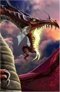 TOM-WOOD-DRAGON-WRETCHED-22x34-FANTASY-ART-POSTER-NEW-ROLLED