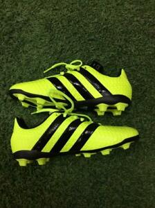 Admirable Sin lugar a dudas Tía  Adidas ACE 16.4 FxG J Junior Firm Ground Soccer Cleats S42144 Solar  Yellow/Black | eBay