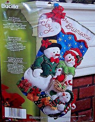 Bucilla CANDY EXPRESS TRAIN Felt Christmas Wall Hanging Kit-Santa Snowman OOP