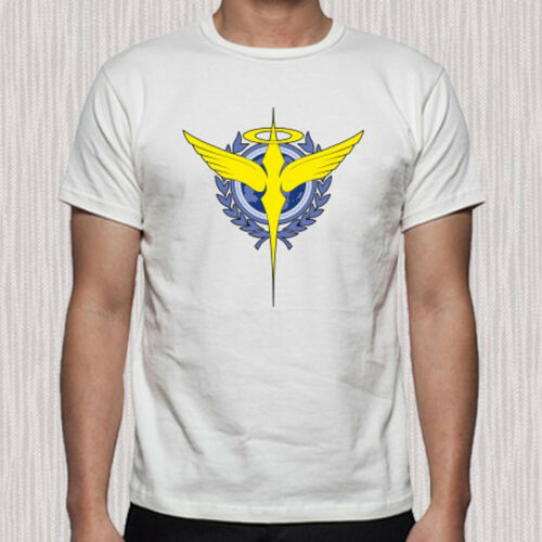 New Mobile Suit Gundam OO Celestial Being Logo Men/'s White T-Shirt Size S to 3XL