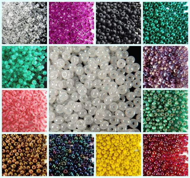 PRECIOSA Pearls Rocaille Spacer 10//0 20g Metallic Round Czech Glass Seed Beads