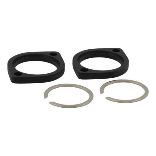 MCS HD BLACK EXHAUST FLANGE AND RETAINING RING KIT XLEVOTWINCAM BC35411 T