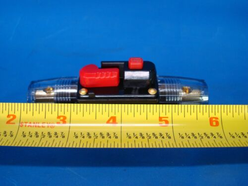 CAR AUDIO 40-AMP CIRCUIT BREAKER MANUAL RESET SWITCH AGU FUSE HOLDER STYLE