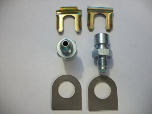 """CLIP FMR AN W//TAB 3 MALE X 3//8/""""-24 FEMALE INVERTED FLARE FITTING KIT,1 PAIR"""