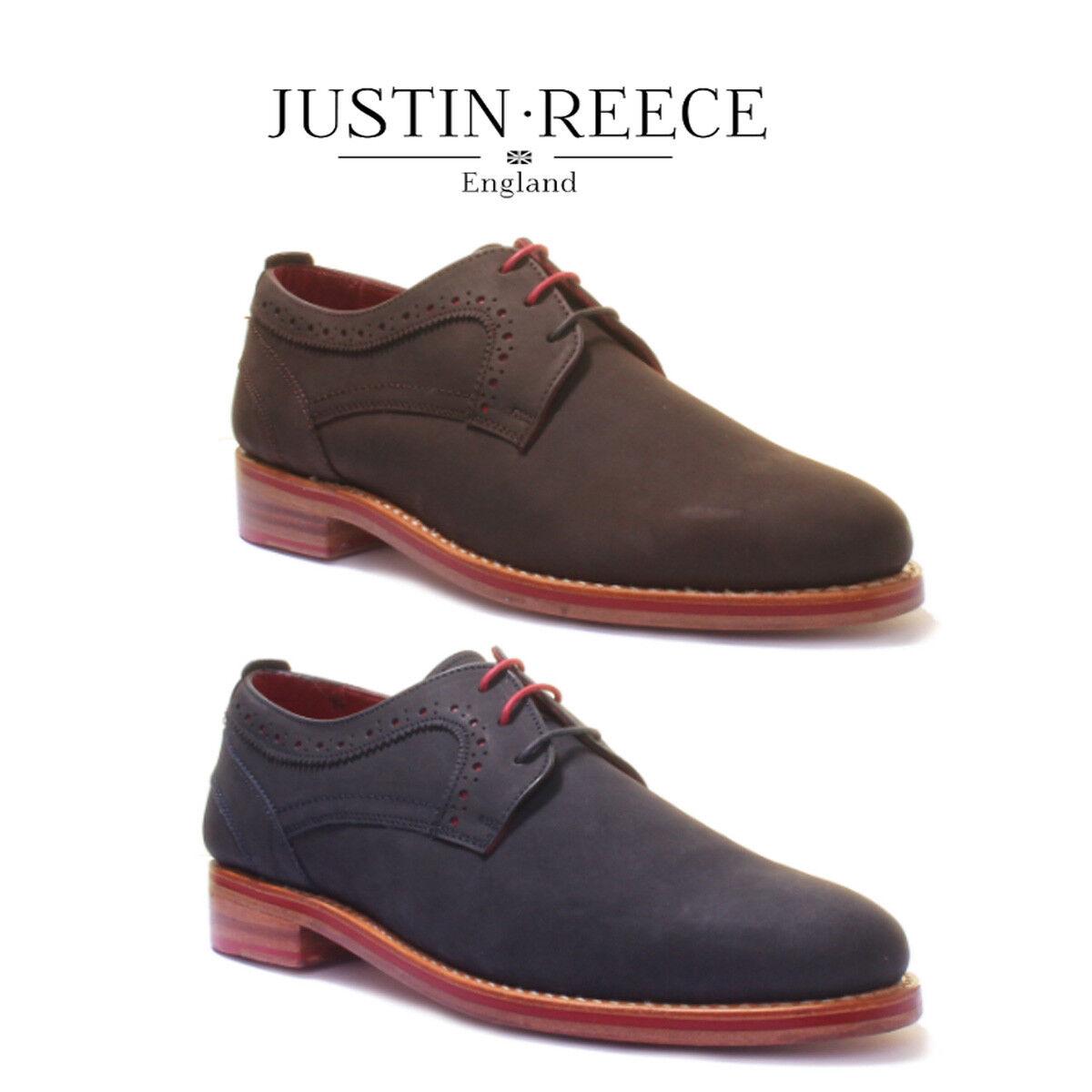 Justin Reece Owen Mens Nubuck Lace up Oxford Leatrher Size Uk 6 - 12