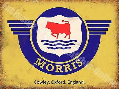 Morris Badge Logo Old Classic Car Van Vintage Garage Spares Large Metal Tin Sign