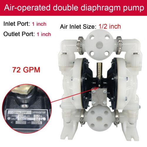 Air-Operated Diaphragm Vaccum Diaphram Pump 72GPM Petroleum Fluids QBY4-25PP