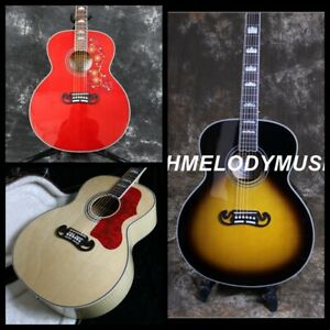 Electric-Acoustic-Guitar-Solid-Spruce-Top-Backside-Flamed-Maple-Bone-Nut