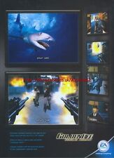 Golden Eye Rogue Agent EA Games 2004 Magazine 2 Page Advert #1455