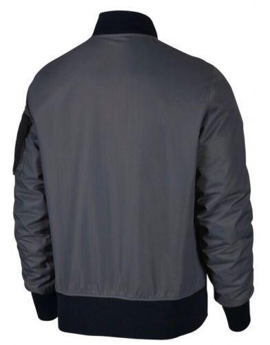 Mens Nike 2018 Air Max Woven Convertible Bomber Jacket Size L (886136 021)grey