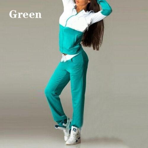 UK Women Sports Tracksuit 2pcs Hooded Sweatshirt Hoodies Long Pants Spring