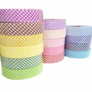 One-Roll-Polyester-Check-Bias-Binding-Tape-Sewing-Trimming-Edging-DIY-3-cm-Wide