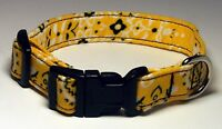 Wet Nose Designs Golden Yellow And Black Bandana Fabric Dog Collar Western