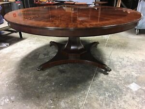 Details About Leighton Hall Traditional Transitional Mahogany Round Dining Table 72 Inch