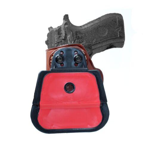"Premium Leather Paddle Holster Fits Beretta 84F// 84FS 380 ACP// 9mm 3.82/""BBL R//H"