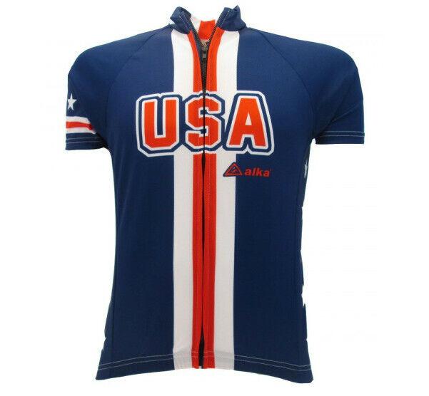 Maglia Bicicletta Corsa MTB Ciclismo USA America maniche corte