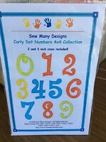 Sew Many Designs Machine Embroidery-curly Dot Numbers 4 X 4 Collection