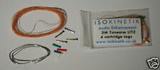 ISOKINETIK LITZ TONEARM REWIRE KIT 3M WITH CARTRIDGE TAGS / CLIPS