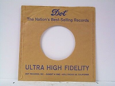 Dot Record Company 45's Sleeves Lot # A-87 Sturdy Construction Music Orderly 1