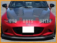 Cs Style Carbon Fiber Front Bumper Lip For Mazda Mx-5 Nd Miata Covertible 15-16