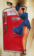 Oldschool Aufkleber 50's Pinup Girl blond Cola Rockabilly US Car Lady USA Chevy