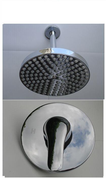Dissimulé douche mélangeur robinet robinet, Pluie Head & Fixation au plafond, tout en métal chromé, 335
