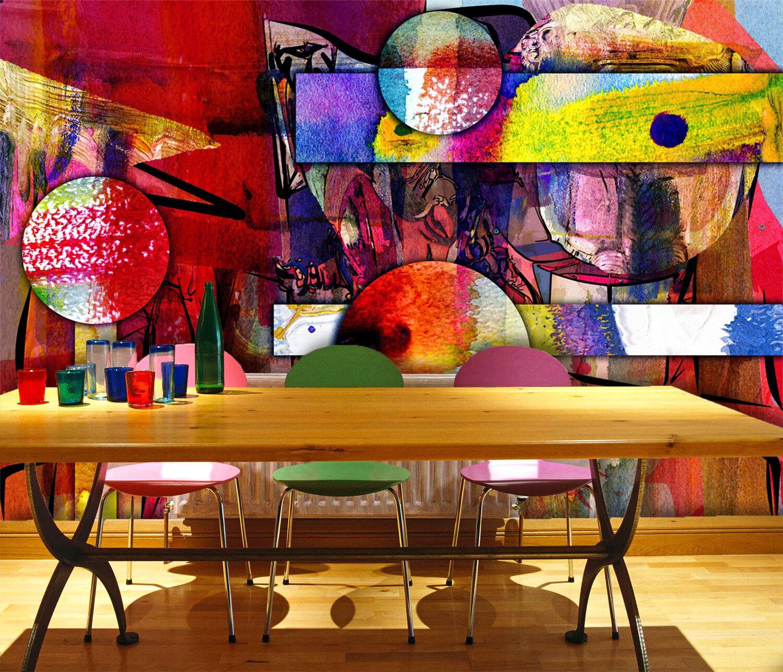 3D Farbgraffiti 57 Tapete Tapeten Mauer Foto Familie Tapete Wandgemälde DE