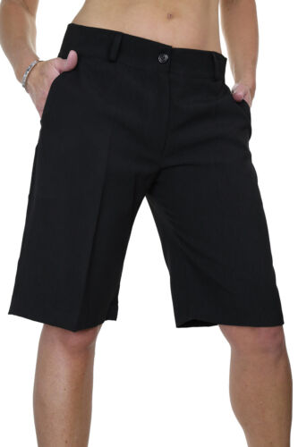 Ladies Smart Washable Day Evening Tailored Shorts Black 8-22 1492-1 ICE
